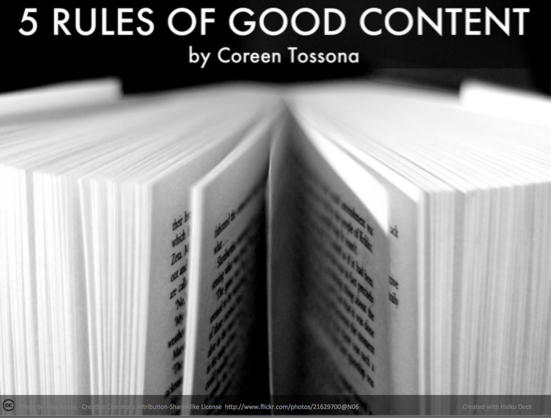 5 rules of good content for copywriters and content marketers