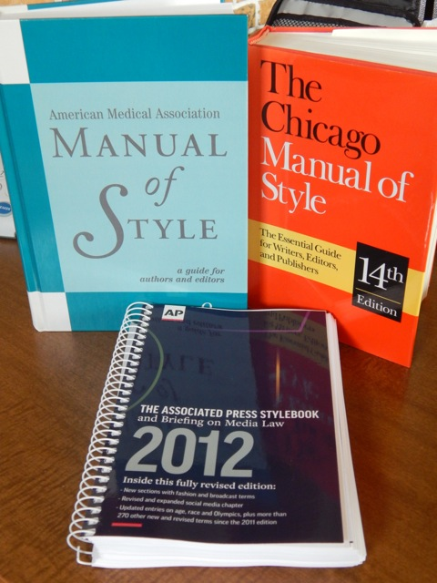 AMA Manual, Chicago Manual of Style & AP Stylebook