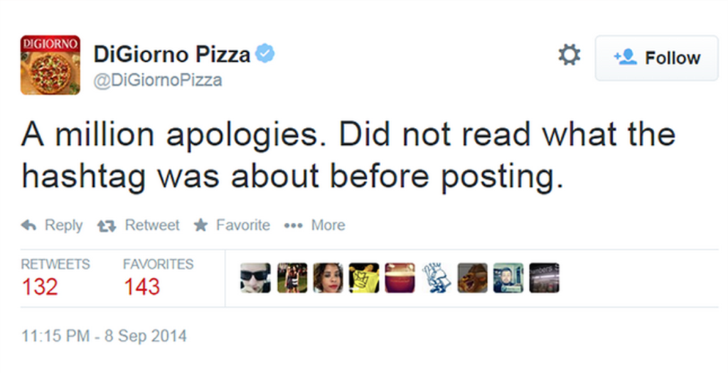 DiGiorno Apology tweet-a million apologies